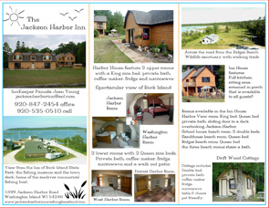 Jackson Harbor Inn Brochure Back - Washington Island, Wisconsin - Lodging in Door County WI