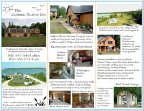 Jackson Harbor Inn Brochure Back - Washington Island, Wisconsin - Lodging in Door County WI